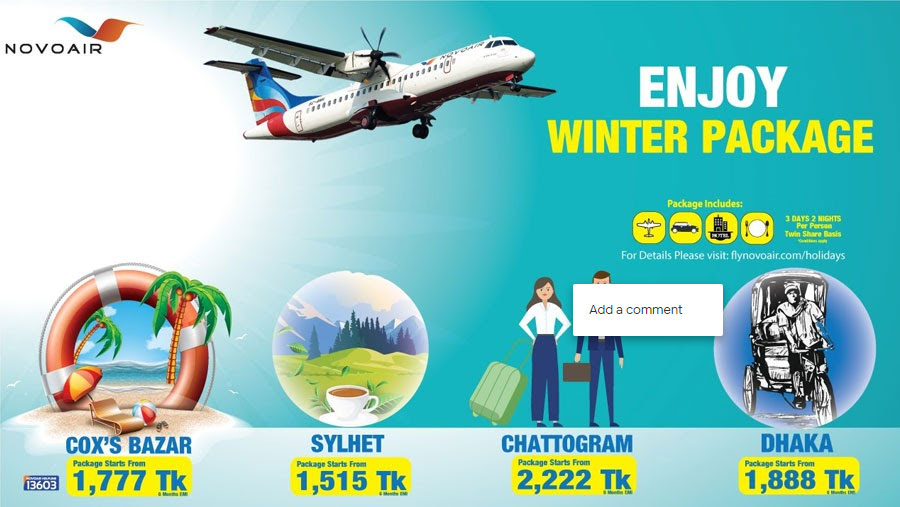NOVOAIR announced attractive winter holiday package