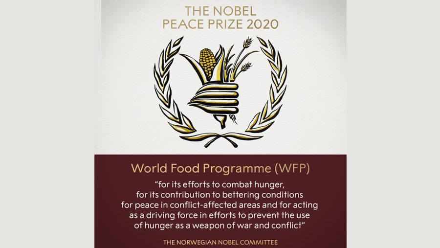 Nobel Peace Prize 2020 won by World Food Programme