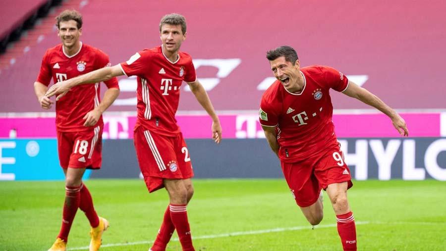 Bayern thrash Eintracht 5-0