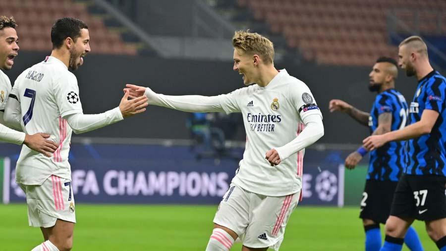 Madrid beat 10-man Inter in Champions League