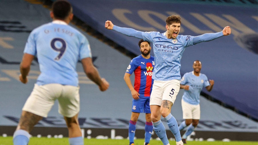 Stones nets twice as Man City go second