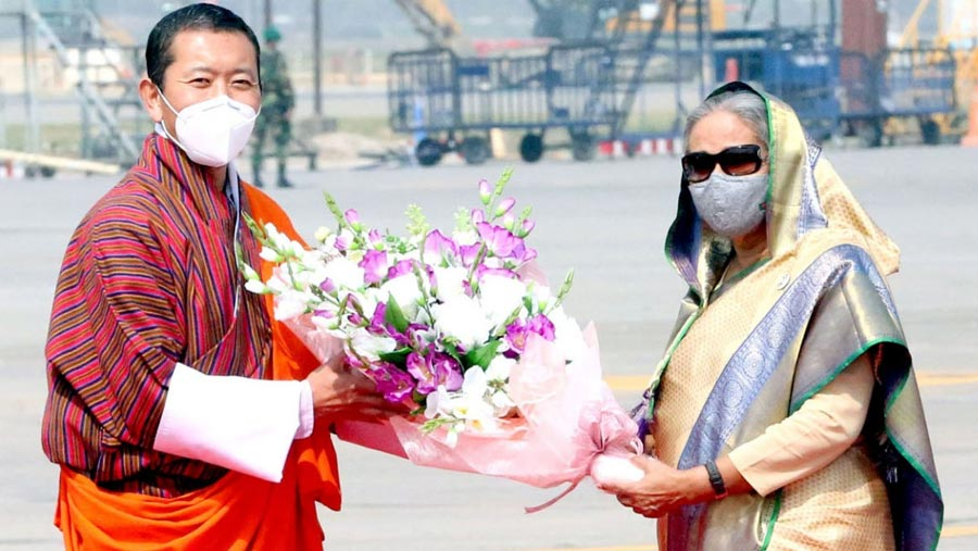 Red carpet rolled out as Bhutanese PM arrives
