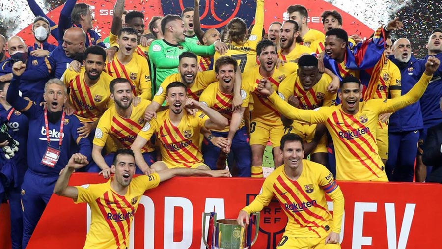 Barca thrash Athletic to win Copa del Rey