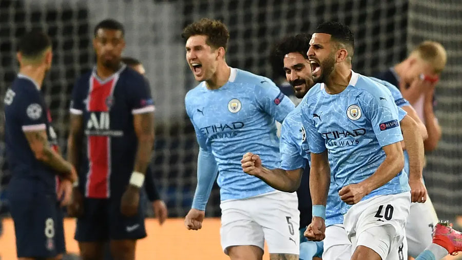 PSG stunned by City's C' League semifinal comeback