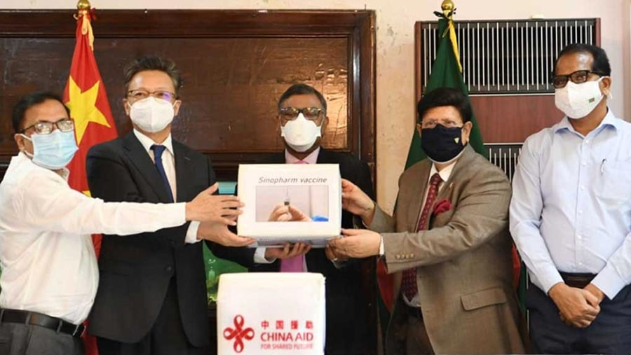 China hands over 5 lakh doses of Covid-19 vaccine as gift