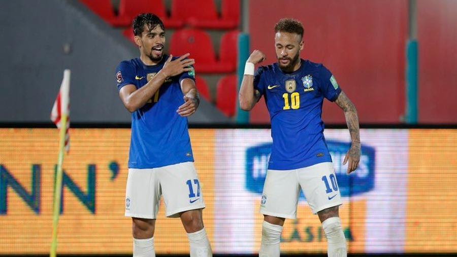 Neymar helps Brazil to perfect six