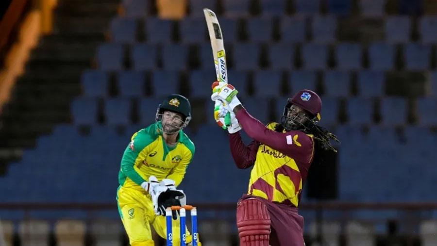 Gayle's half-century paces WIndies past Australia