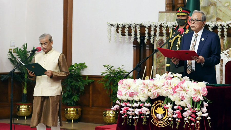 Prof Dr Shamsul Alam sworn-in as state minister
