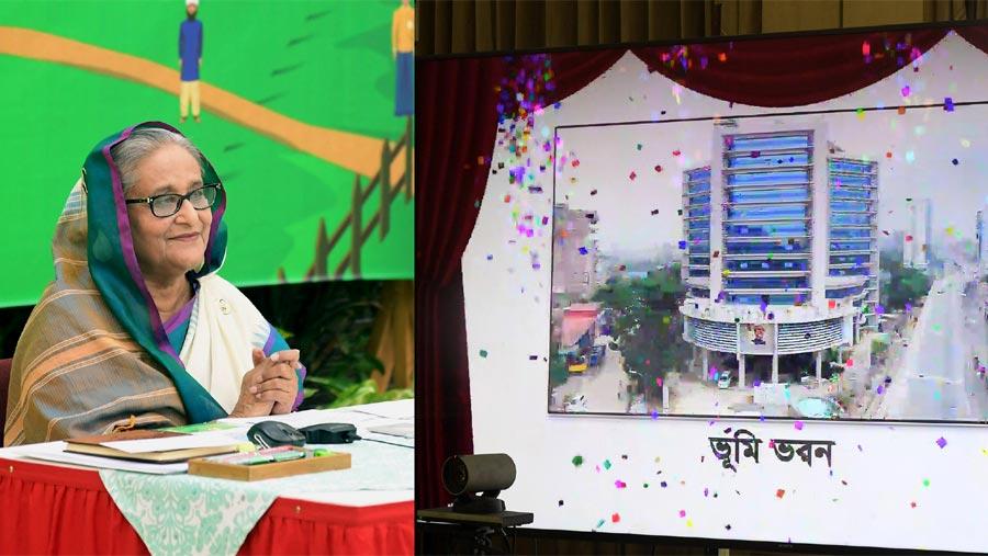 PM opens Bhumi Bhaban